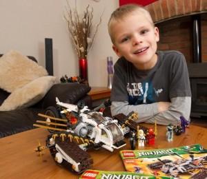 Luka with his Lego set